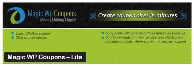 Magic WP Coupons – Lite - WP Plugin