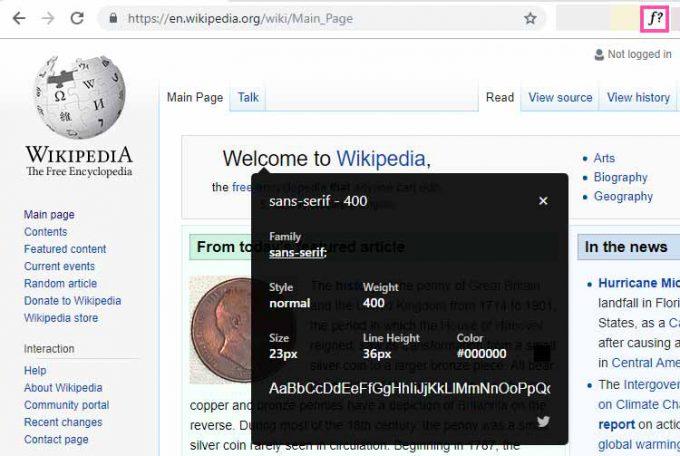 WhatFont - Google Chrome Extension