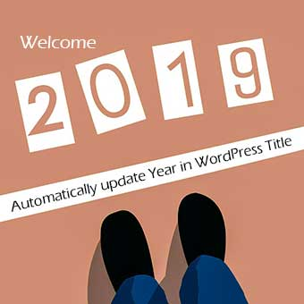 Automatically update Year in WordPress Tiltle
