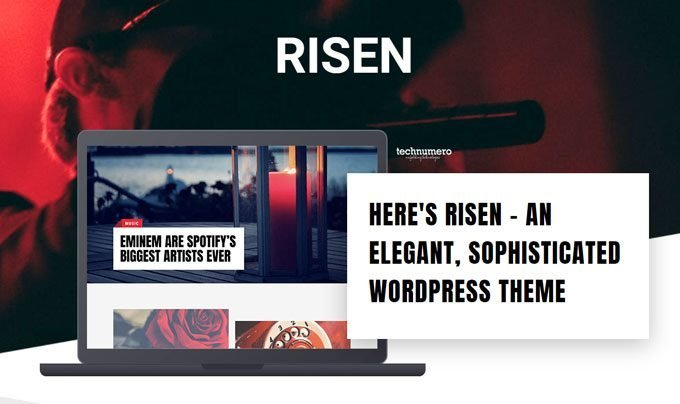 Risen - Aesthetically Pleasing Performance Oriented WordPress Theme