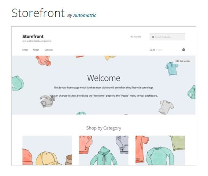 WooCommerce Storefront - The Official WooCommerce Theme