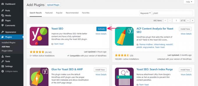 Activate Installed WordPress Plugin