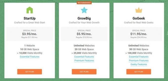 Choose a SiteGround Hosting Plan