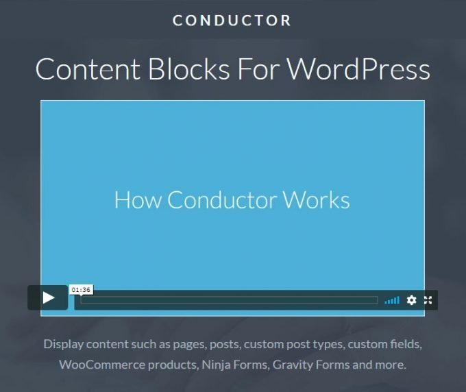 Conductor - Best WordPress Visual Page Builder