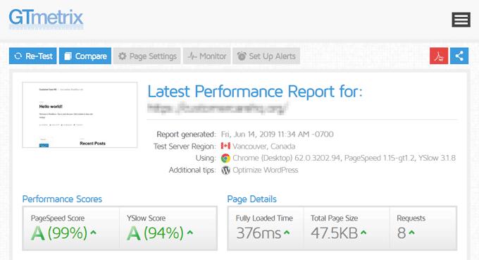 GTmetrix Website Performance Report - Kinsta WordPress Hosting