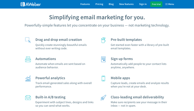 AWeber - Most popular Email Marketing Tools