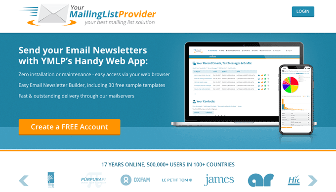YMLP - Your Mailing List Provider