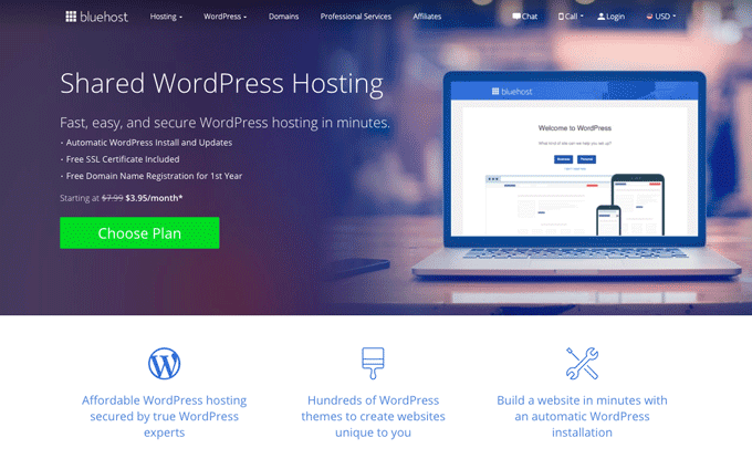 Bluehost - Shared WordPress Hosting