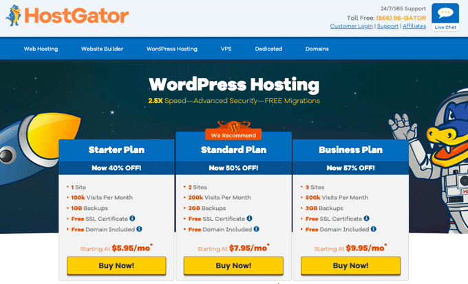 HostGator - WordPress Hosting Services