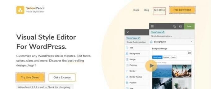 Yellow Pencil Custom CSS Editor WordPress Plugin