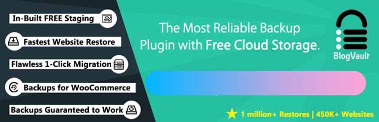 BlogVault Backups: Backup & Staging Plugin